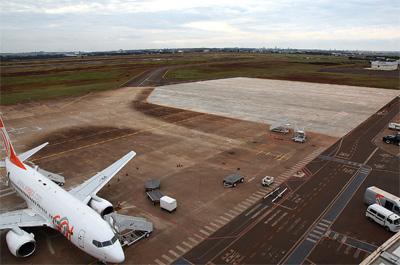Novo pátio do aeroporto de Maringá é inaugurado