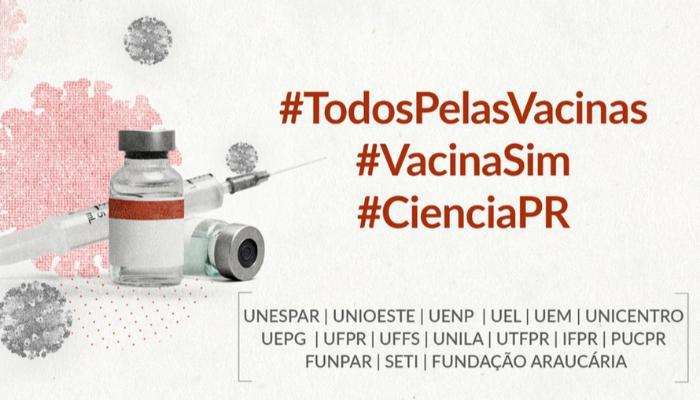 Instituições ligadas à ciência no Paraná se mobilizam em favor da vacina