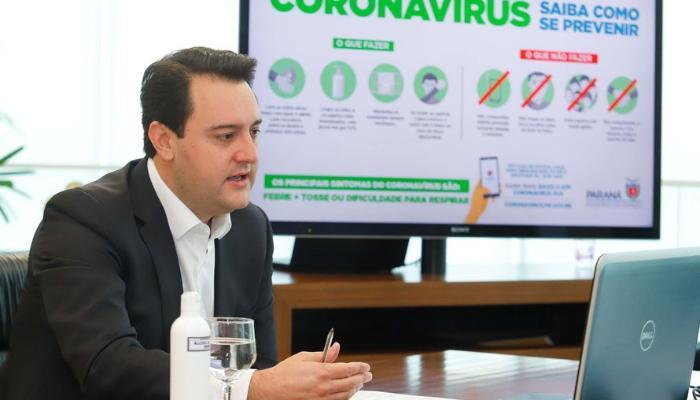 Governador determina quarentena em 6 regiões do PR por 14 dias