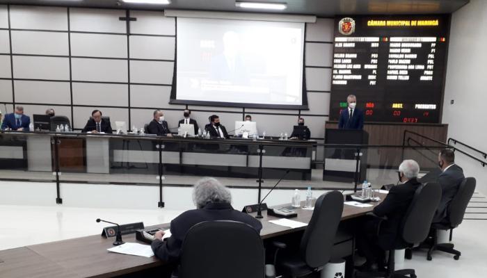Primeira sessão de 2021 dá início ao ano legislativo de Maringá