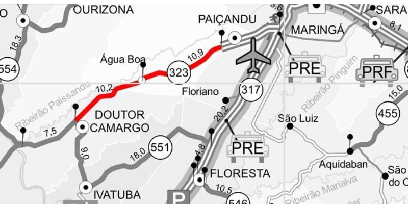 PR-323 terá detonação de rochas em três dias consecutivos
